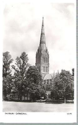 Salisbury, Wiltshire - Cathedral - nice Photochrom real photo postcard