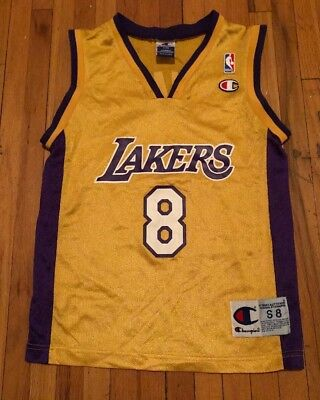 more photos ff105 aad40 NBA CHAMPION BASKETBALL Jersey Kobe Bryant Los Angeles Lakers Kids S Vintage