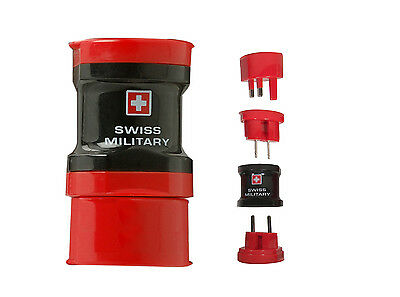 Buy 2 get a free travel wallet Universal World Travel Adapter Swiss Military