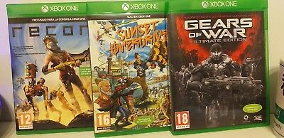 """Xbox One """"Games Pack""""(Gears Of War+Sunset Overdrive+Recore)"""