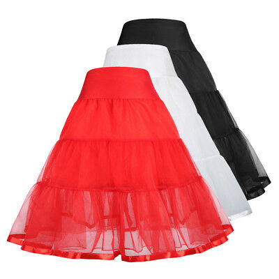 1 Pcs Girls Two Layers Tiered Retro Vintage Dress Crinoline Underskirt Petticoat