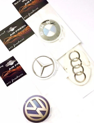 CAR AIR FRESHNER, OFFICIAL AUDI, BMW, MINI, MERCEDES & VW (Buy 3, Get 1 Free)