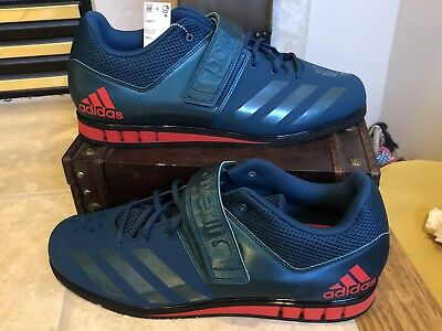 5de73b27209 Adidas Powerlift 3.1 Green Red Weightlifting Trainer Shoes BA8014 Men s  Size 6