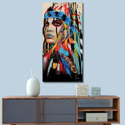 100x50cm Indian Woman Abstract Canvas Art Print Oil Painting Wall Home Decor