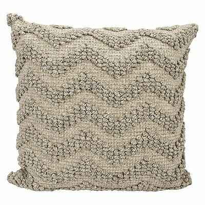 Chevron Grey Throw Pillow Cozy Sleek Square Lightweight Home Office