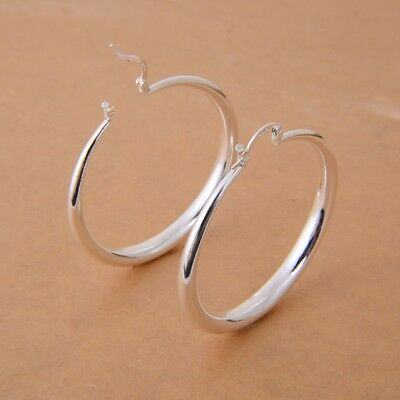 Women Gorgeous 925 Silver Hoop Earring Wedding Dangle Earrings Jewelry