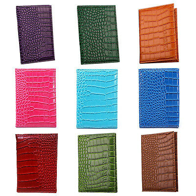 2X(PU Leather Protective Cover Travel Case Protective Case passport holder, I4D6