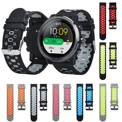 Lightweight Ventilate Soft Silicone Watch Band Wrist Strap for Amazfit Stratos 2