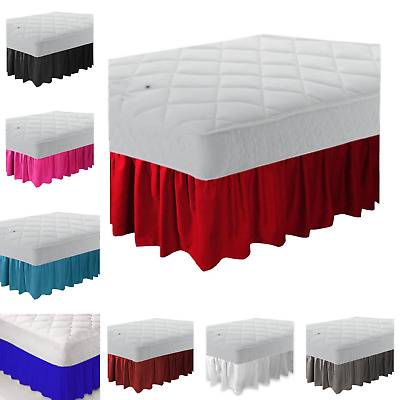 PLAIN DYED PLATFORM FRILLED BASE VALANCE SHEET POLLYCOTTON EASY CARE All Color
