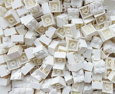 LEGO BRICKS 100 x WHITE 2x2 Pin  From Brand New Sets Sent In a Clear Sealed Bag