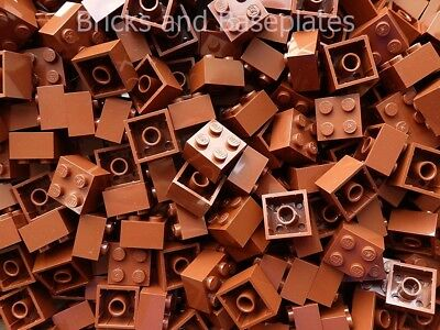 LEGO BRICKS 100 x BROWN 2x2 Pin  From Brand New Sets Sent In a Clear Sealed Bag