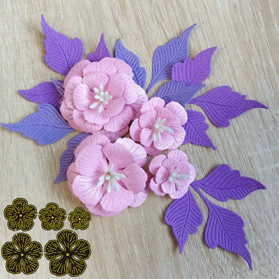Metal Flower Stitched Cutting Dies DIY Embossing Card Making Frames Cut Stencils