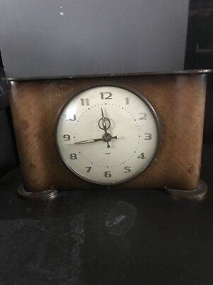 Smiths Antique Clock , 8 Day Floating Balance Art Deco , Working !