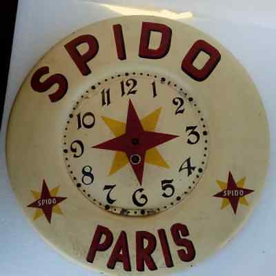Vintage French Spido motor oil commercial wall clock