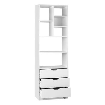 Artiss Display Drawer Shelf - White - DZ-498