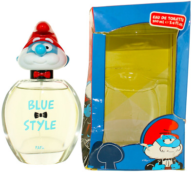 Blue Style Papa by The Smurfs For Kids EDT Cologne Spray 3.4oz Damaged box New