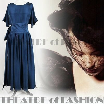 DRESS SILK WEDDING 50s 40s 30s VINTAGE DROOPY BROWNS VAMP DIVA SENSUAL TIMELESS