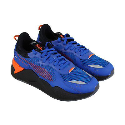 PUMA RS X TOYS Hot Wheels 16 Mens Blue Mesh Low Top Lace Up Sneakers Shoes