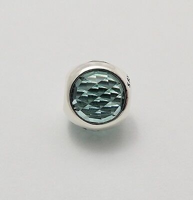 New Authentic Pandora 925 Sterling Silver Charm Radiant Droplet, Icy Green