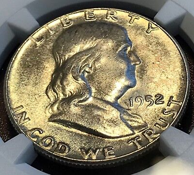 1952 Franklin Half NGC MS63 Great for Grade Looks FBL CHN