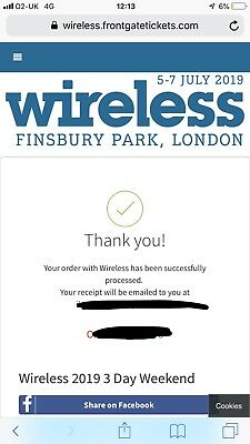 Wireless 2019 Festival Ticket SUNDAY General Admission