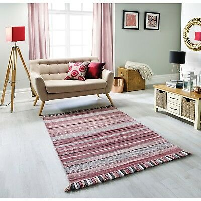 4460046d660 Kelim Ethnic Style Rug Pink Stripe in various sizes   cushion covers