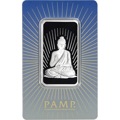 1 oz. Silver Bar - PAMP Suisse - Buddha - .999 Fine in Sealed Assay