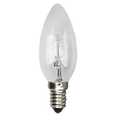 Girard Sudron Eco Halogen Candle Clear Bulb in Mob, E14, 42 W