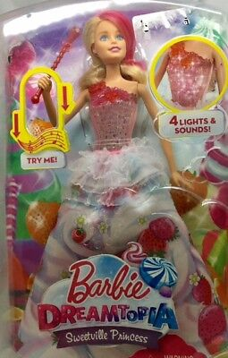 Barbie Dreamtopia Sweetville Princess with 4 lights and sounds