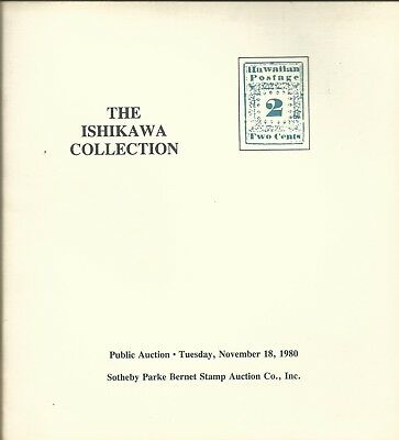 SOTHEBY'S ISHIKAWA Collection Postal Stamps History Hawaii S-50 Catalog 1980