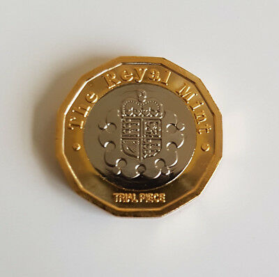 New 2016 £1 One Pound Trial Coin Very Rare Filler Coin Please Read Description
