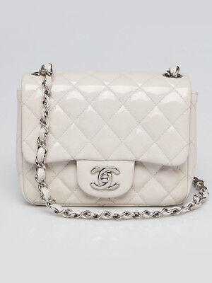 53fcd7ba47cc26 Chanel Light Purple Quilted Patent Leather Classic Square Mini Flap Bag