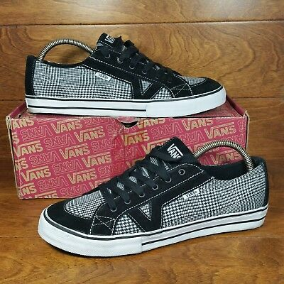 4ce1043482e4eb Vans Tory (Women s Size 10.5) Black White Houndstooth Shoes Skate BMX  Sneakers