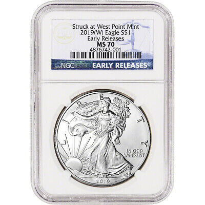 2019-(W) American Silver Eagle - NGC MS70 - Early Releases