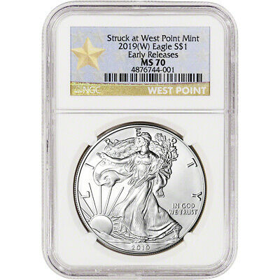 2019-(W) American Silver Eagle - NGC MS70 - Early Releases - Star Label