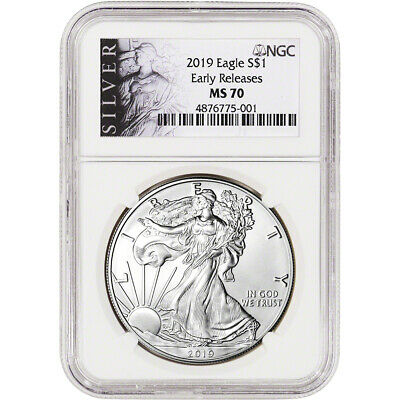 2019 American Silver Eagle - NGC MS70 - Early Releases - ALS Label