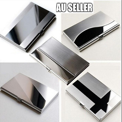 Stainless Steel Business Card Holder ID Name Credit Case Cover Metal Silver