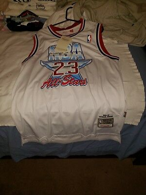 reputable site 2da56 f7c43 100% Authentic Michael Jordan Mitchell Ness 91 NBA All Star Jersey Size 52  XL