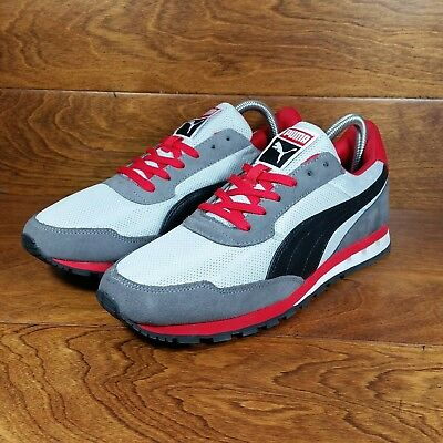 Puma Kabo Runner (Men s Size 8.5) Athletic Casual Sneaker Shoes Gray Black  Red af1f563a4eb