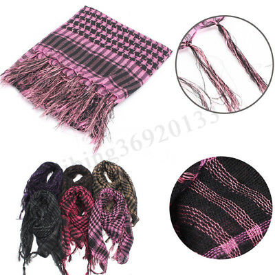 Mens Womens Scarf Shawl Tartan Wrap Neck Cover Stole Tactical Army Militar