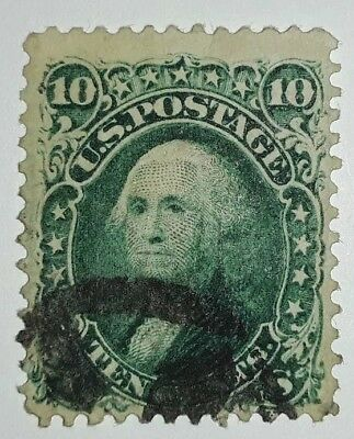 Travelstamps: 1861-62 US Stamps Scott #68 Ten Cent Washington Stamp Used , Ng