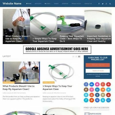 AQUARIUM STORE - Work From Home Online Business Website For Sale + Hosting