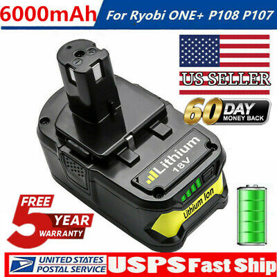 4.0AH For RYOBI P108 ONE PLUS 18V Li-Ion High Capacity Battery P104 P107 P106 BU