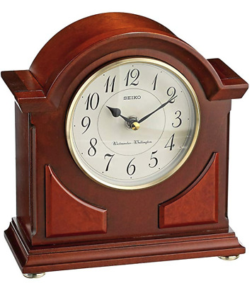 Seiko Handsome Chime Table Clock Classic Tabletop Desk Mantle Top Shelf Brown