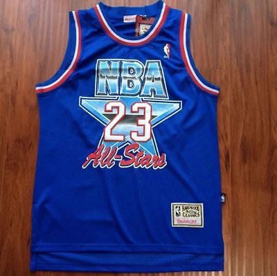 bf7d63bf3 Michael Jordan NBA All-Stars Basketball Jersey Throwback Swingman  23 Blue