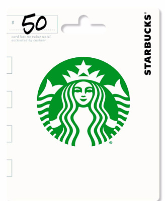 $50 Starbucks Gift Card Fast Delivery Actual Card