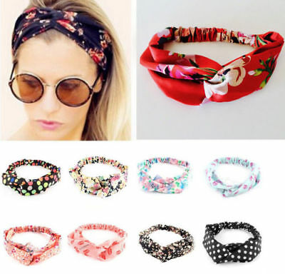 75f1f7d7317c5 Womens Headband Twist Hairband Bow Knot Cross Tie Headwrap Hair Band Hoop