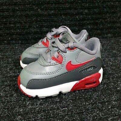 580f849294 Nike Air Max 90 (Toddler Boy's Size 4C) Athletic Sneaker Shoes Gray Red