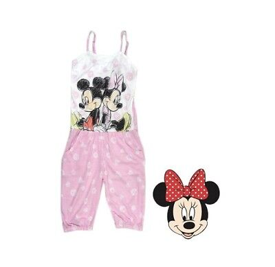Girl's Disney Minnie & Mickey Mouse PJ's Jump Suit, Sizes: 7 & 14 Left Only BNWT