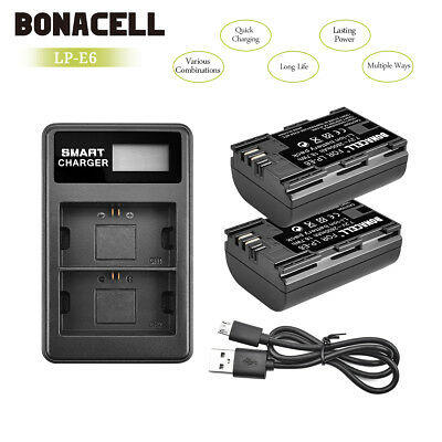 US Ship! LP-E6 Battery or Charger for Canon EOS 80D 6D 7D 70D 60D 5D Mark II UB